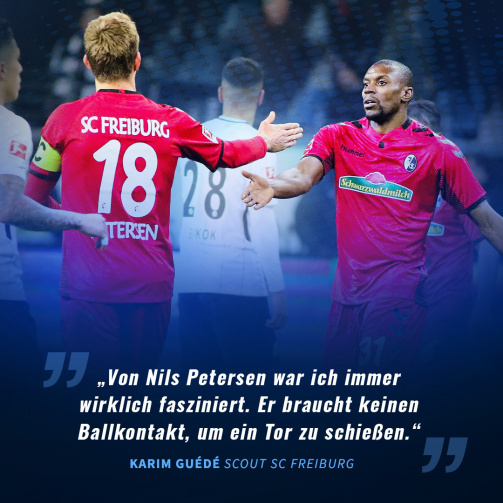 © tm/imago images - Karim Guédé stand beim SC Freiburg 24-mal mit Nils Petersen gemeinsam auf dem Feld