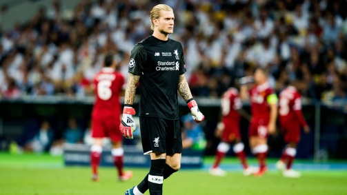 Loris Karius in the Liverpool shirt, with whom he reached the Champions League final