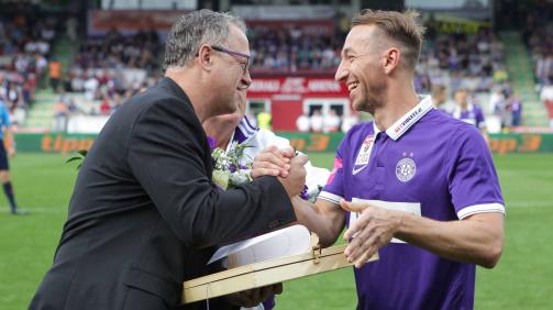 Am 31.05.2015 bestritt Ortlechner (r.) sein letzten Bundesliga-Spiel als Austria-Profi