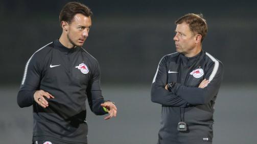 Februar 2020: Matthias Jaissle (l.) und Frank Kramer betreuten den Nachwuchs bei RB Salzburg