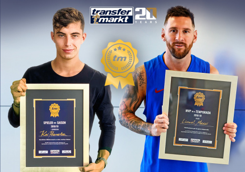 Last year's voting in the Bundesliga and LaLiga: Havertz and Messi with their awards
