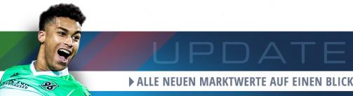 Übersicht aller neuen Marktwerte der 2. Bundesliga