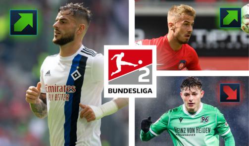 Alle neuen Marktwerte der 2. Liga: HSV-Profi Leibold mit 1,6 Mio. € Plus