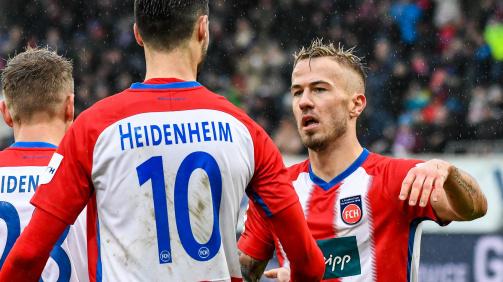 Erfolgsduo beim 1. FC Heidenheim: Tim Kleindienst und Niklas Dorsch (r.)
