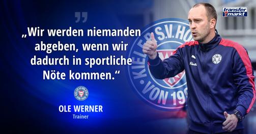 © imago images/TM - Holstien Kiels Trainer Ole Werner will Janni Serra und Jae-sung Lee nicht ohne Not abgeben