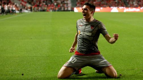 Palhinha a festejar um golo do SC Braga frente ao Benfica © imago images