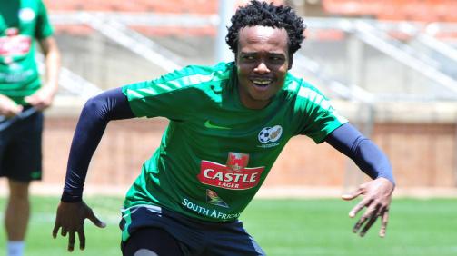 Percy Tau representing Bafana Bafana