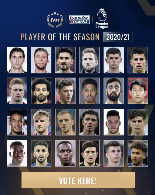 Who will become the Premier League Player of the Season? Vote here!