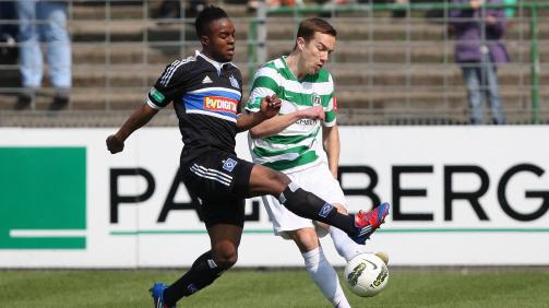 Ofosu für den HSV II gegen VfB Lübeck - Saison 2011/12