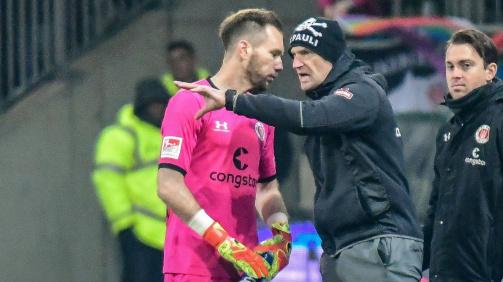 Langjährige Weggefährten bei St. Pauli: Robin Himmelmann (l.) und Torwarttrainer Mathias Hain