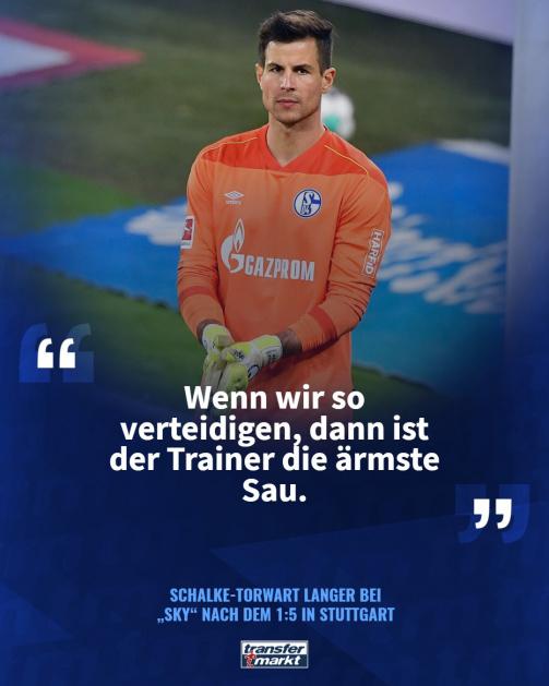 Schalke-Torwart Langer nach dem 1:5 beim VfB