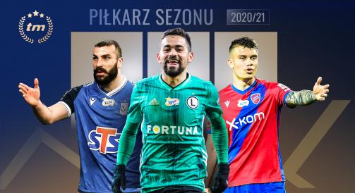 Kliknij tutaj, aby zagłosować na piłkarza sezonu polskiej ekstraklasy!