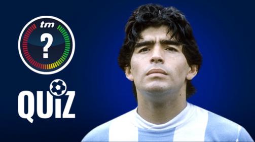 TM-Quiz: 10 Fragen zu Diego Maradona