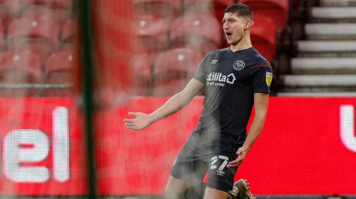 © imago images - Vitaly Janelt bejubelt sein Tor für den FC Brentford gegen Middlesbrough - er traf in 27 Spielen schon so oft wie in 54 für den VfL Bochum