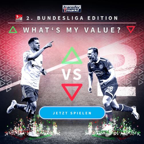 © imago images/TM - Wie hoch ist dein Highscore? Probiere jetzt das Whats My Value-Spiel in der 2. Bundesliga-Edition aus!