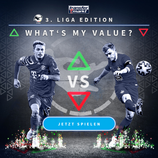 © imago images/TM - Wie hoch ist dein Highscore? Probiere jetzt das Whats My Value-Spiel in der 3. Liga-Edition aus!