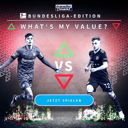 © imago images/TM - Wie hoch ist dein Highscore? Probiere jetzt das neue Whats My Value-Spiel in der Bundesliga-Edition aus!