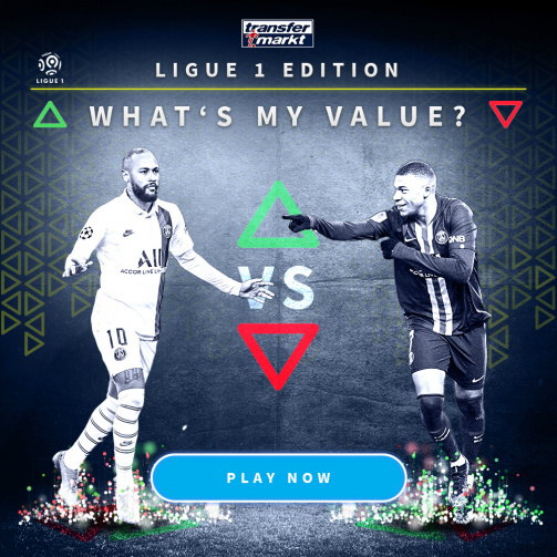 "New Ligue 1 edition of the ""What's my value?"" game - Play it now!"