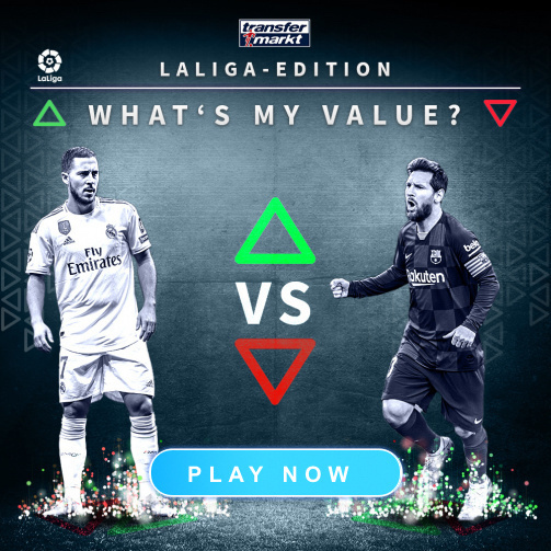 "Play the LaLiga edition of ""What's my value?"" now!"