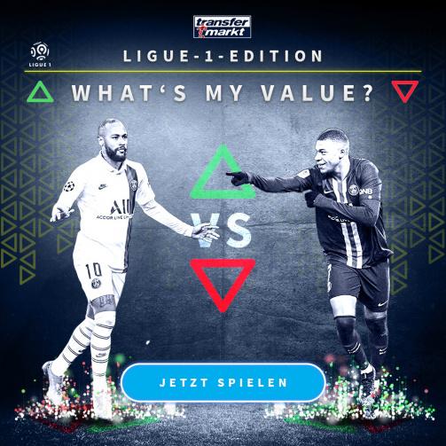 © imago images/TM - Wie hoch ist dein Highscore? Probiere jetzt das neue Whats My Value-Spiel in der Ligue1-Edition aus!