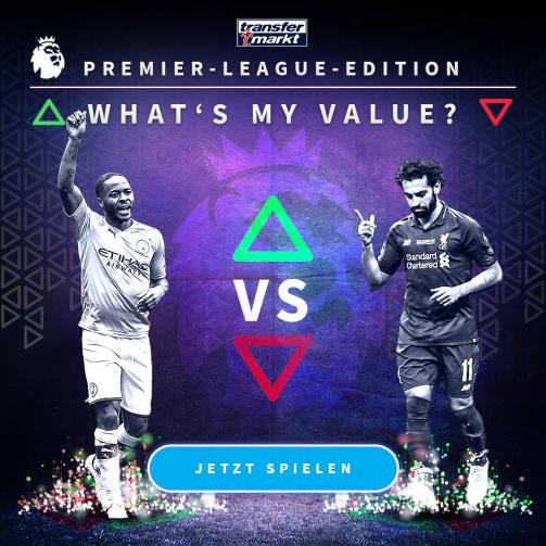 © imago images/TM - Wie hoch ist dein Highscore? Probiere jetzt das neue Whats My Value-Spiel in der Premier League-Edition aus!
