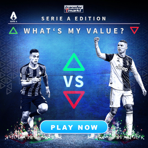 "Play it now! ""What's My Value?"" Serie A edition"