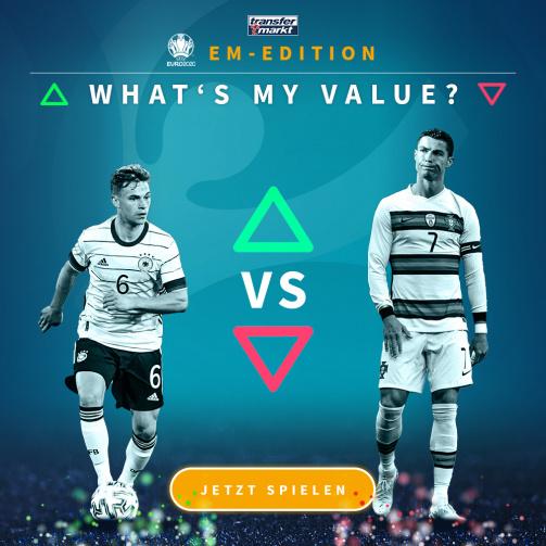 © tm/imago images - Teste jetzt dein Marktwertwissen: What's My Value in der EM-Edition (Link zum Spiel)