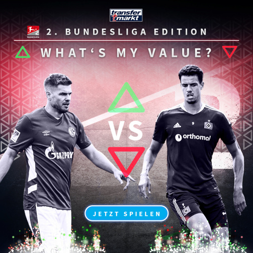 What's my value - 2. Bundesliga: Jetzt mitspielen und Markwert-Wissen testen