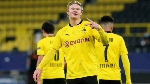 Borussia Dortmund striker, Erling Haaland surpasses legends Ronaldo and Zinedine Zidane in Champions League goalscoring charts at the age of 20 || PEAKVIBEZ