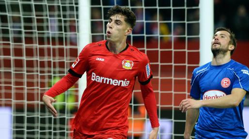 Bosz hails 'special' Kai Havertz after two-goal display for Leverkusen