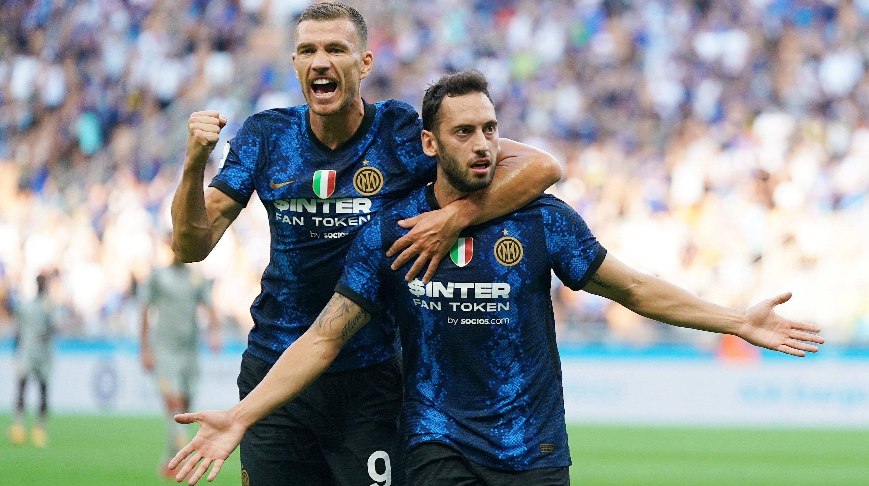 Inter Mailand: Perfekter Einstand für Calhanoglu und Dzeko gegen Genua CFC