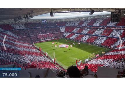 Allianz Arena Zuschauerschnitt Bundesliga 2018/19 FC Bayern München