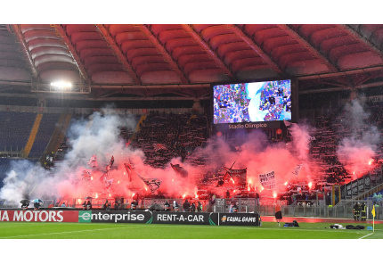 Eintracht Frankfurt, Fans, Stadio Olimpico, Lazio Rom