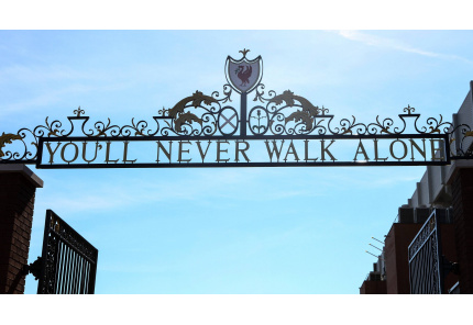 Gate Tor never walk alone Liverpool Anfield